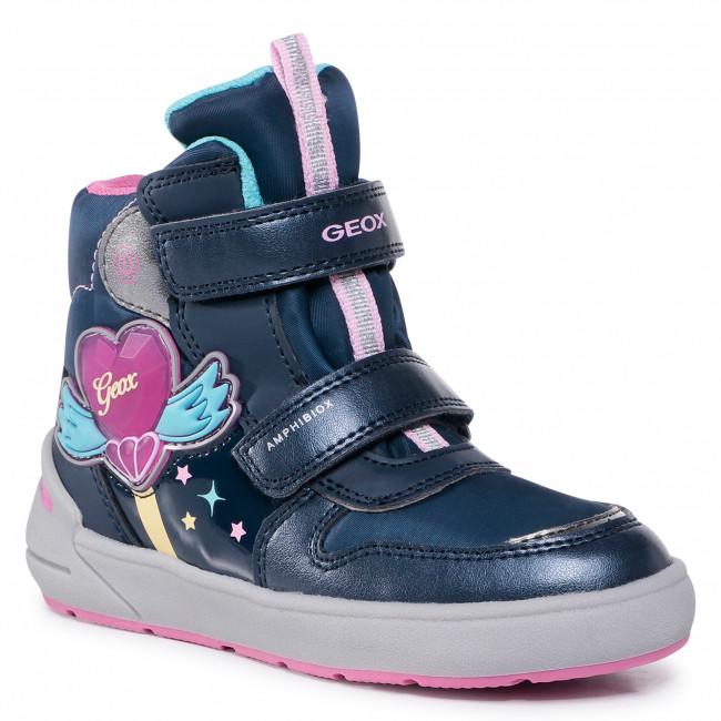 Snow Boots GEOX - J Sleigh G. B Abx C J049SC 0NFFU C4268 S Navy/Fuchsia
