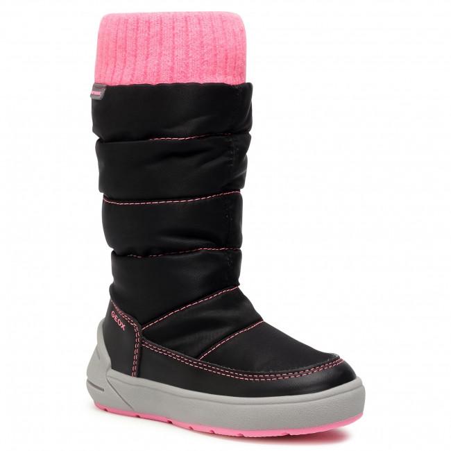 Snow Boots GEOX - J Sleigh G. B Abx D J049SD 0FU54 C9B8L M Black/Fluo Fuchsia