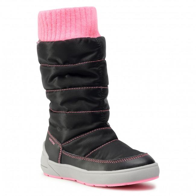 Snow Boots GEOX - J Sleigh G. B Abx D J049SD 0FU54 C9B8L S Black/Fluo Fuchsia
