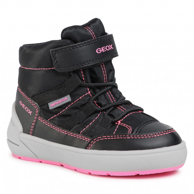 Boots GEOX - J Sleigh J049SE 0FU54 C9B8L M  Black/Fluo Fuchsia