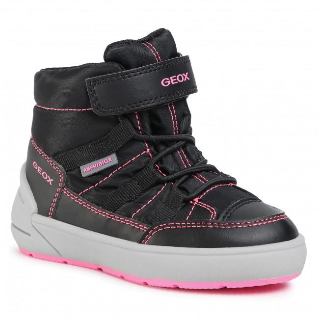 Snow Boots GEOX - J Sleigh G. B Abx E J049SE 0FU54 C9B8L D Black/Fluo Fuchsia