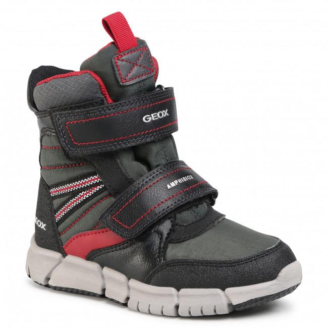 Snow Boots GEOX - J Flexyper B Abx A J049XA 0FUFE C0260 S Black/Dk Red