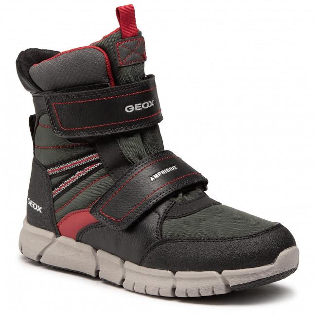 Snow Boots GEOX - J Flexyper B Abx A J049XA0FUFEC0260 D Black/Dk Red