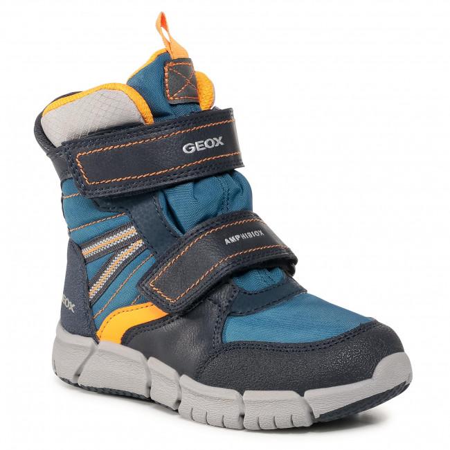 Snow Boots GEOX - J Flexyper B Abx A J049XA 0FUFE C0659 S Navy/Orange