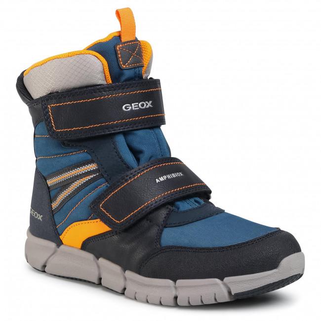 Snow Boots GEOX - J Flexyper B Abx A J049XA 0FUFE C0659 D Navy/Orange