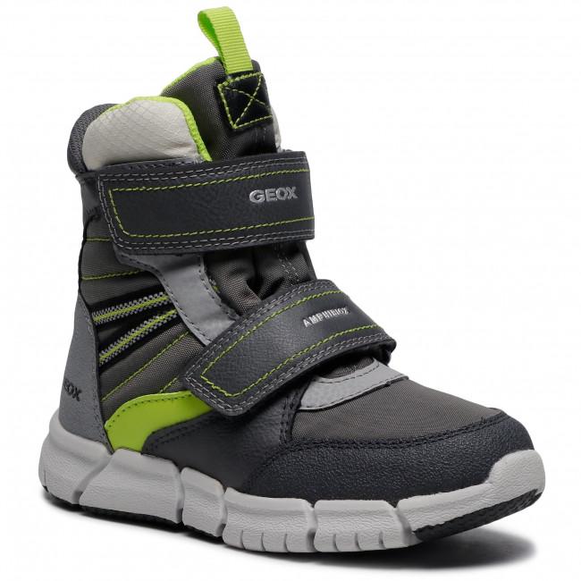 Snow Boots GEOX - J Flexyper B Abx A J049XA 0FUFE C0666 S Grey/Lime