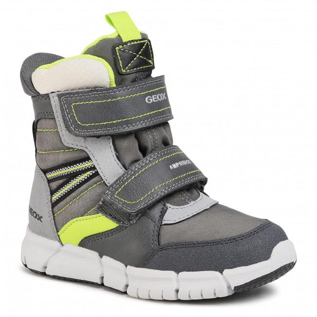 Snow Boots GEOX - J Flexyper B Abx A J049XA 0FUFE C0666 D Grey/Lime