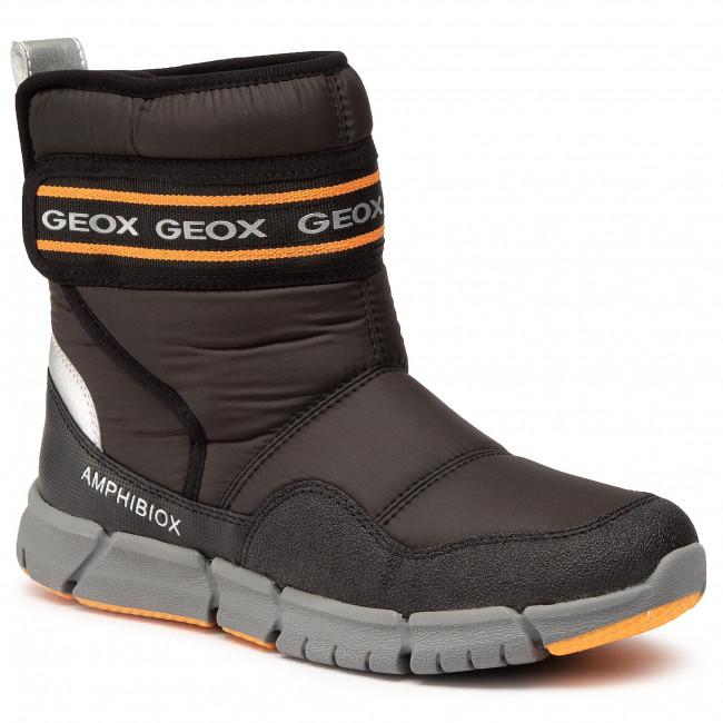 Snow Boots GEOX - J Flexyper B Abx C J049XC 0FU50 C0038 D Black/Orange