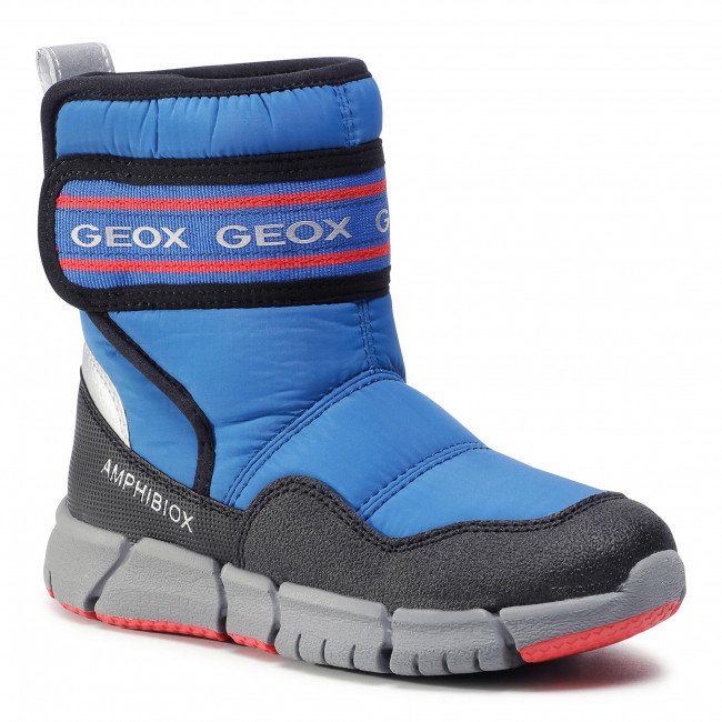 Snow Boots GEOX - J Flexyper B Abx C J049XC 0FU50 C0833 D Royal/Red