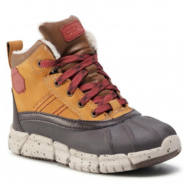 Snow Boots GEOX - J Flexyper B Abx D J049XD 0CL54 C6361 S Lt Brown/Dk Red