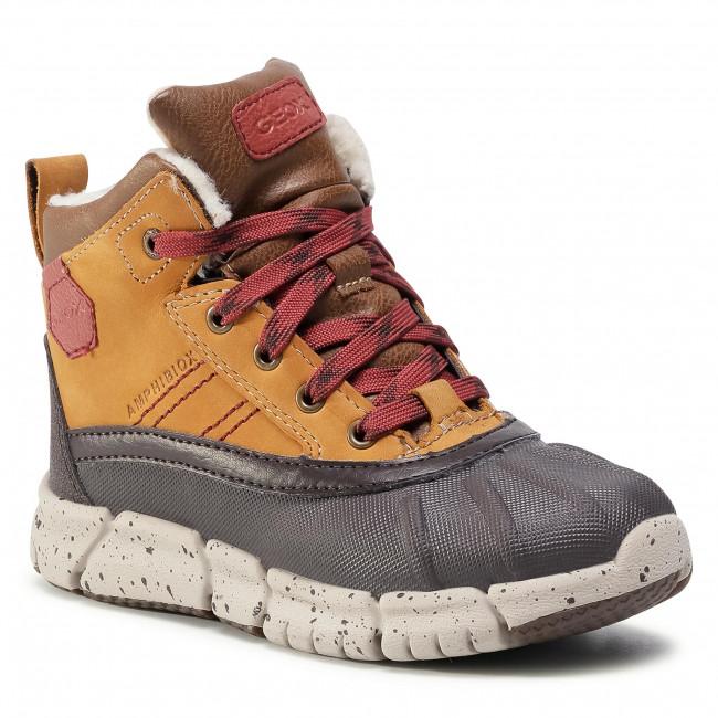 Snow Boots GEOX - J Flexyper B Abx D J049XD 0CL54 C6361 D Lt Brown/Dk Red