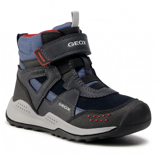 Snow Boots GEOX - J Teram B.B Abx B J04AEB 022ME C4244 S Navy/Dk Red