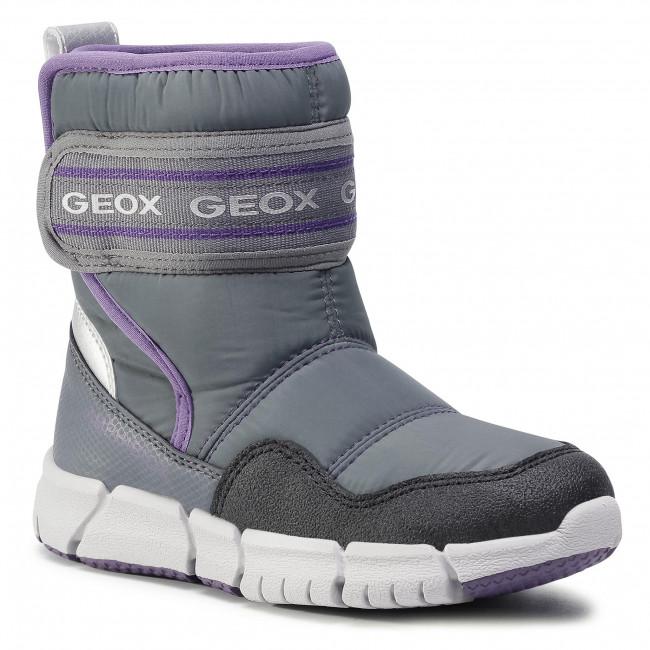 Snow Boots GEOX - J Flexyper G.B Abx A J04APA 0FU50 C1324 D Grey/Purple