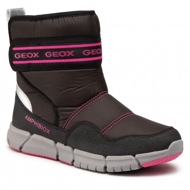 Snow Boots GEOX - J Flexyper G.B Abx A J04APA 0FU50 C9B8L D Black/Fluo Fuchsia