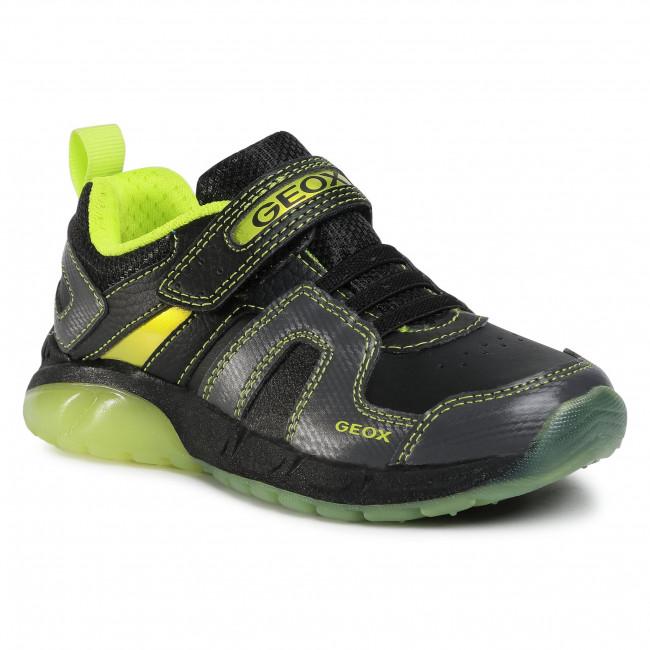 Trainers GEOX - J Spaziale B. A J04CQA 054CE C0802 S Black/Lime