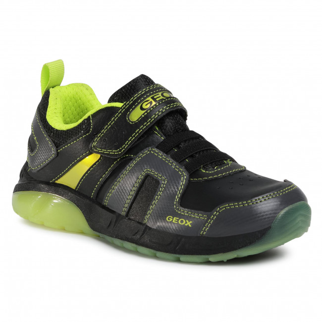Trainers GEOX - J Spaziale B. A J04CQA 054CE C0802 D Black/Lime