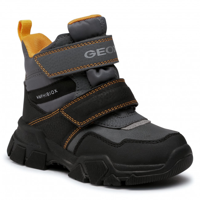Snow Boots GEOX - J Nevegal B.Abx C J04CSC 0FUFE C0070 M Dk Grey/Yellow