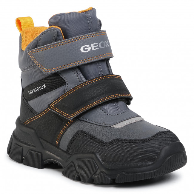 Snow Boots GEOX - J Nevegal B.Abx C J04CSC 0FUFE C0070 S Dk Grey/Yellow