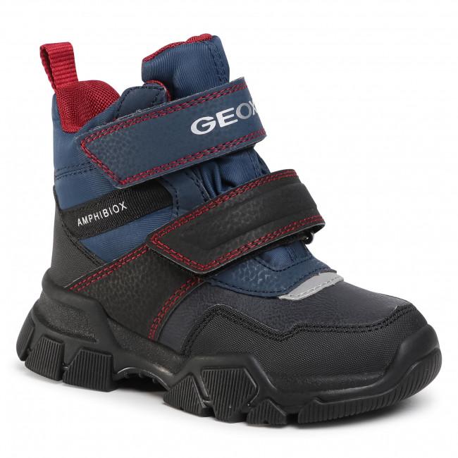 Snow Boots GEOX - J Nevegal B.Abx C J04CSC 0FUFE C4244 M Navy/Dk Red