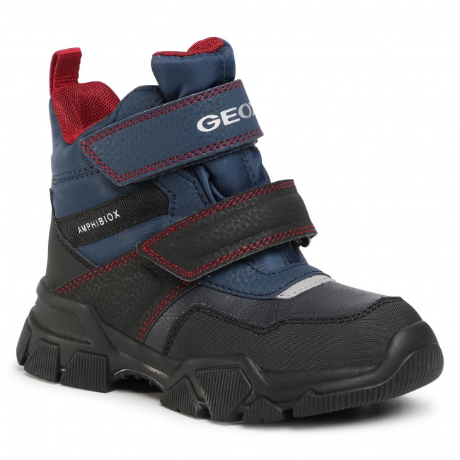 Snow Boots GEOX - J Nevegal B.Abx C J04CSC 0FUFE C4244 S Navy/Dk Red