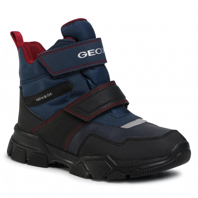 Snow Boots GEOX - J Nevegal B.Abx C J04CSC 0FUFE C4244 D Nay/Dk Red