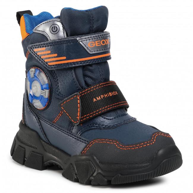 Snow Boots GEOX - J Nevegal B.Abx D J04CSD 0FUFE C0820 M Navy/Orange