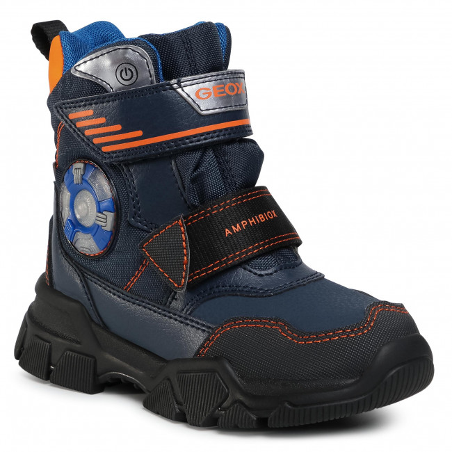 Snow Boots GEOX - J Nevegal B.Abx D J04CSD 0FUFE C0820 S Navy/Orange