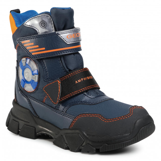 Snow Boots GEOX - J Nevegal B.Abx D J04CSD 0FUFE C0820 D Navy/Orange