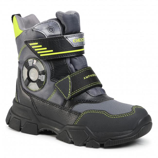 Snow Boots GEOX - J Nevegal B.Abx D J04CSD 0FUFE C1267 D Dk Grey/Lime