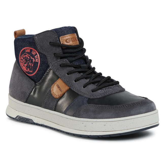 Boots GEOX - J Astuto B. D J04CXD 0CL22 C0048 D Black/Red