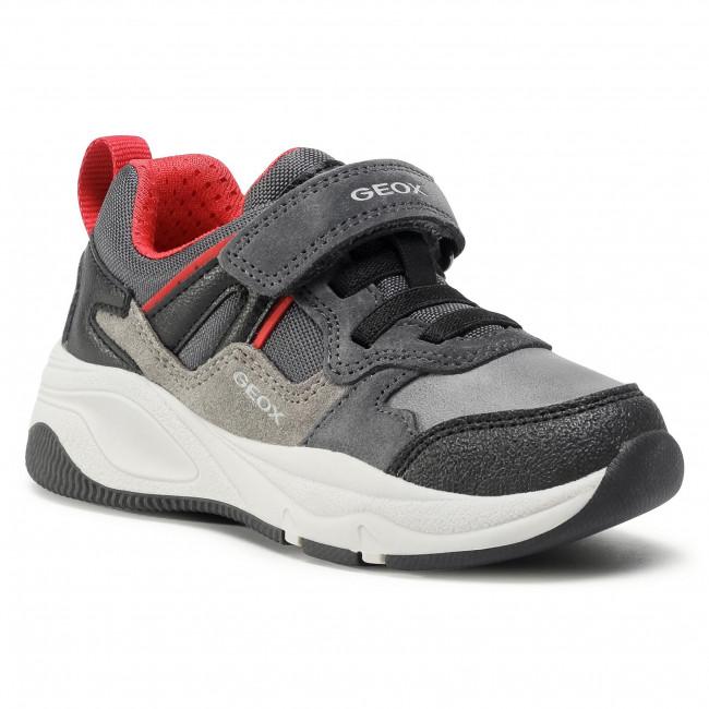 Trainers GEOX - J Tortona B. A J04CZA 02211 C0047 S Dk Grey/Red