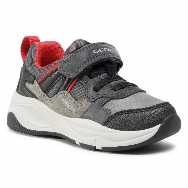 Trainers GEOX - J Tortona B. A J04CZA 02211 C0047 D Dk Grey/Red