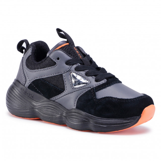 Trainers GEOX - J Bubblex B. A J04DEA 05422 C0038 S Black/Orange