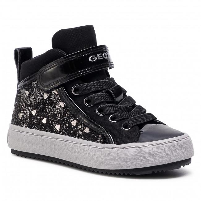Sneakers GEOX - J Kalispera G.I J744GI 0DHAS C9244 M Black/Dk Silver