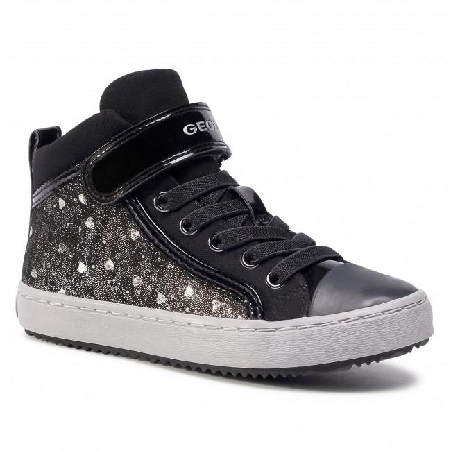 Sneakers GEOX - J Kalispera G.I J744GI 0DHAS C9244 S Black/Dk Silver