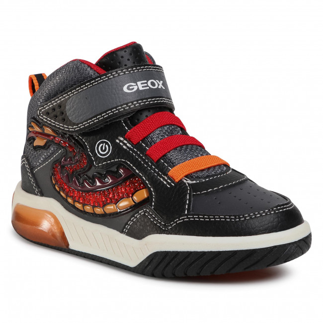 Trainers GEOX - J Inek B. E J949CE 05411 C0048 S Black/Red