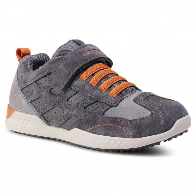Trainers GEOX - J Snake.2 B. A J94ABA 022CL C0365 D Grey/Dk Orange