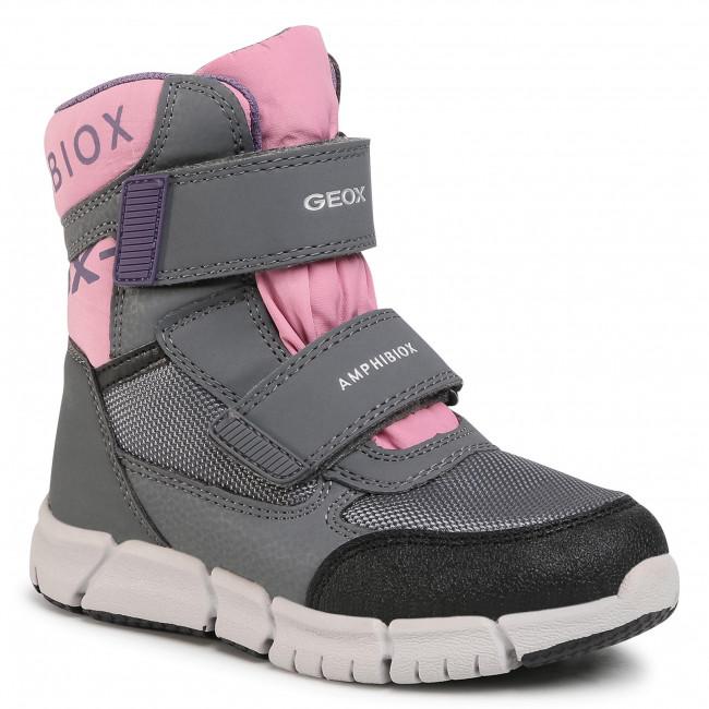 Snow Boots GEOX - J Flexyper G.B Abx A J94APA 0FU50 C1FK8 S Grey/Rose