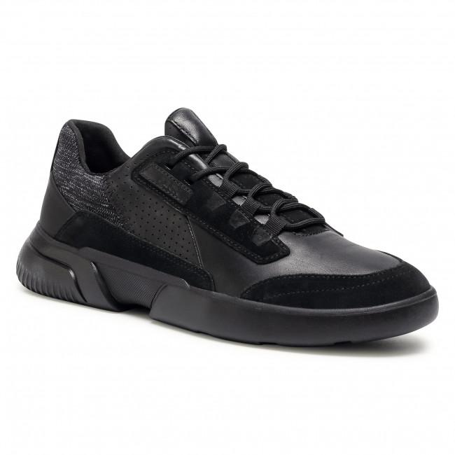 Trainers GEOX - U Smoother A U04AFA 08522 C9996  Black/Black