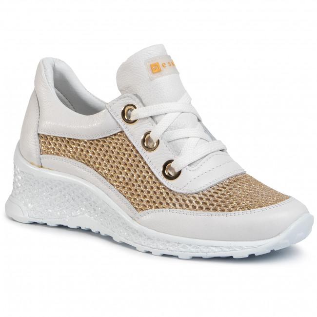Sneakers NESSI - 20681 Biały/Złoto