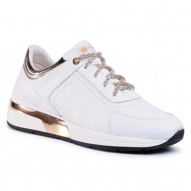 Sneakers NESSI - 20706 Biały/Złoto