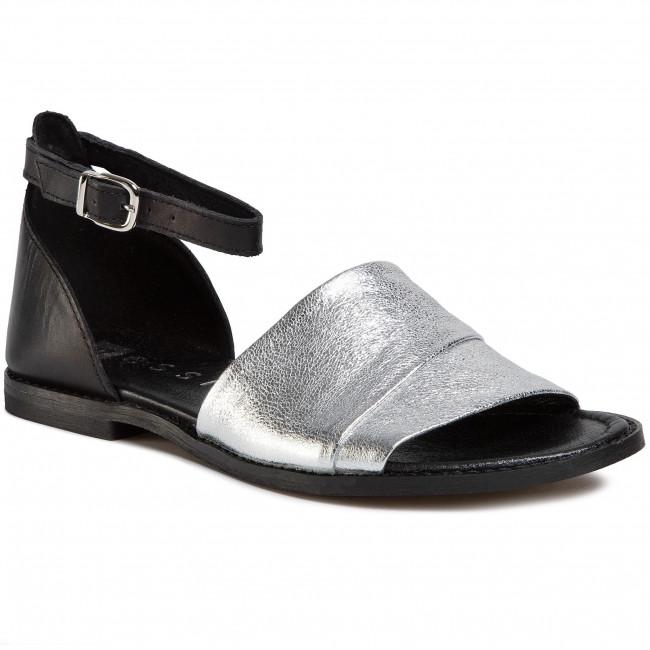 Sandals NESSI - 20713 Czarny Srebro