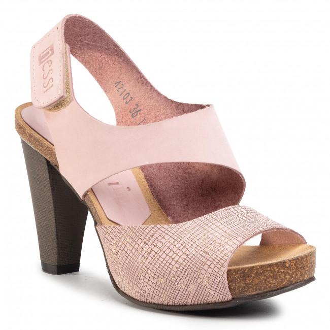 Sandals NESSI - 42103 Róż 111