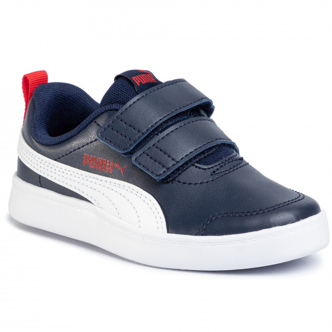 Sneakers PUMA - Courtflex V2 V Ps 371543 01 Peacoat/High Risk Red