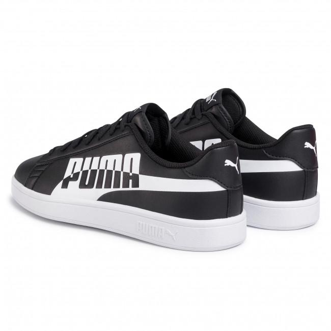 Savings on PUMA Women's Smash V2 Sneaker, White Black, 7 M US