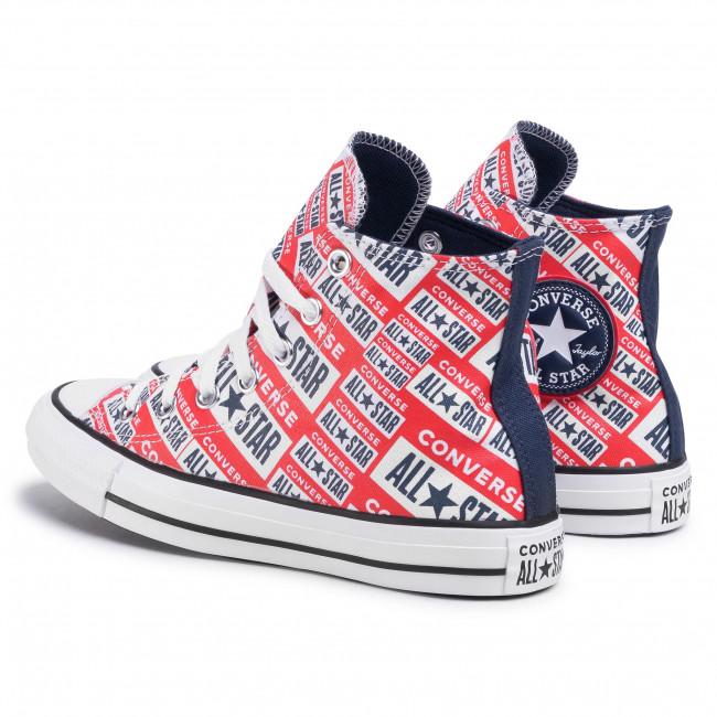 Sneakers CONVERSE Ctas Hi 166984C WhiteMultiBlack