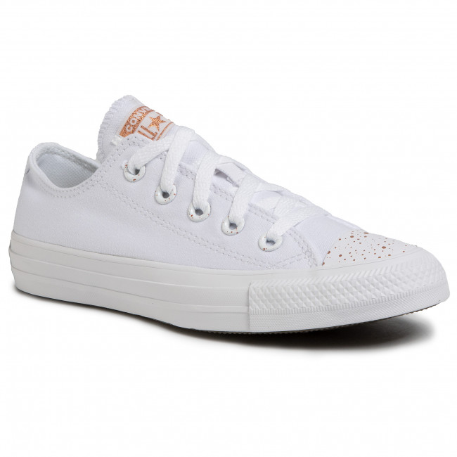 white and gold converse - 52% OFF