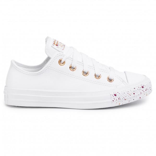 Sneakers CONVERSE Ctas Ox 566728C WhiteGoldRose Maroon