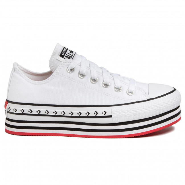 Sneakers CONVERSE Ctas Platform Layer Ox 566762C WhiteBlackWhite