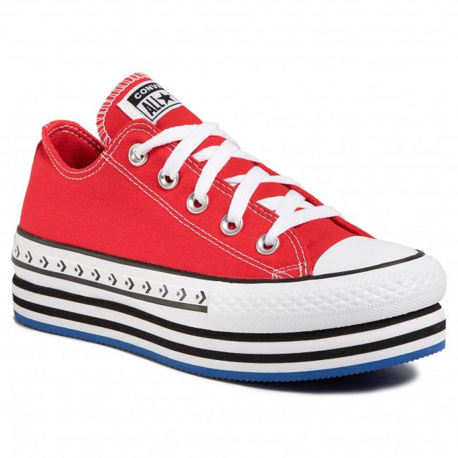 Sneakers CONVERSE Ctas Platform Layer Ox 566763C University RedWhiteBlack